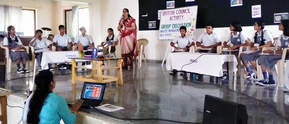Group discussion on waste management held at VPNBVM