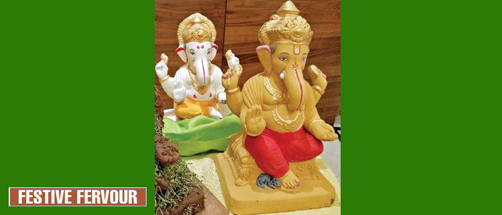 Increase in demand to make Ganesh idols from alternative material