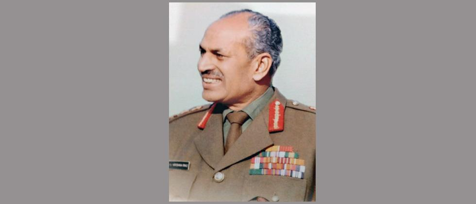 Army pays rich tribute to former Army Chief Gen KV Krishna Rao