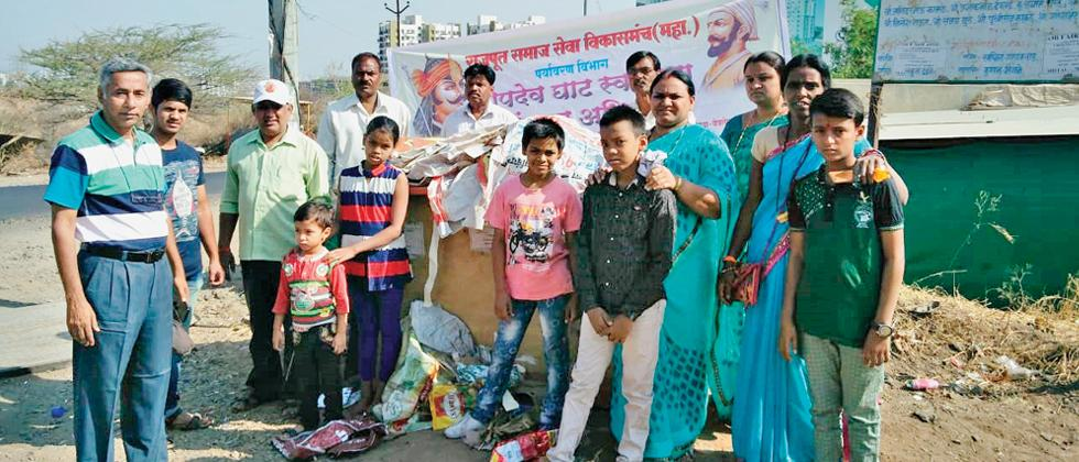 Members of Rajput Manch organise cleanliness drive at Bopdev Ghat