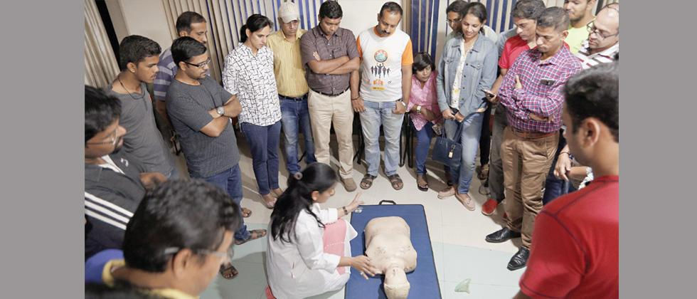 Workshop on basic life support held at ABMH