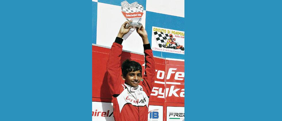 Ruhaan Alva with his first Runners-up trophy