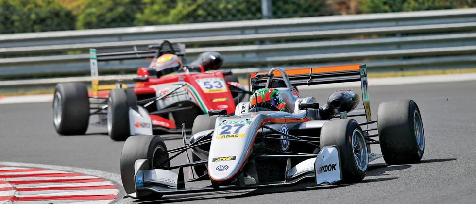 Jehan Daruvala drives through the serpentine circuit of Hungaroring Formula 1 Circuit during the Round 3 of the FIA F3 European Championship on Sunday.