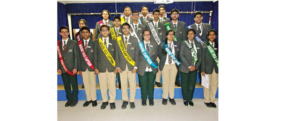 The newly appointed student council members of The Orbis School were given various duties and posts at the investiture ceremony.