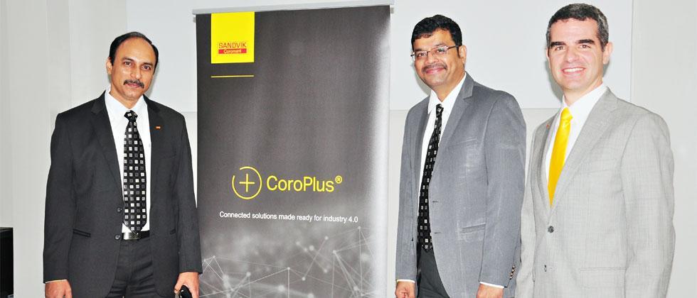(L To R) Sunil Joshi, Head of Digital Machining, South and East Asia; Sharad Kulkarni, Head of Round Tool Business, South and East Asia and Javier Guerra, President, Sandvik Coromant, India