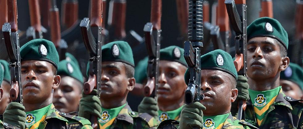 Sri Lanka Police Special Task Force (STF) soldiers. Photo-Lakruwan Wanniarachchi/AFP