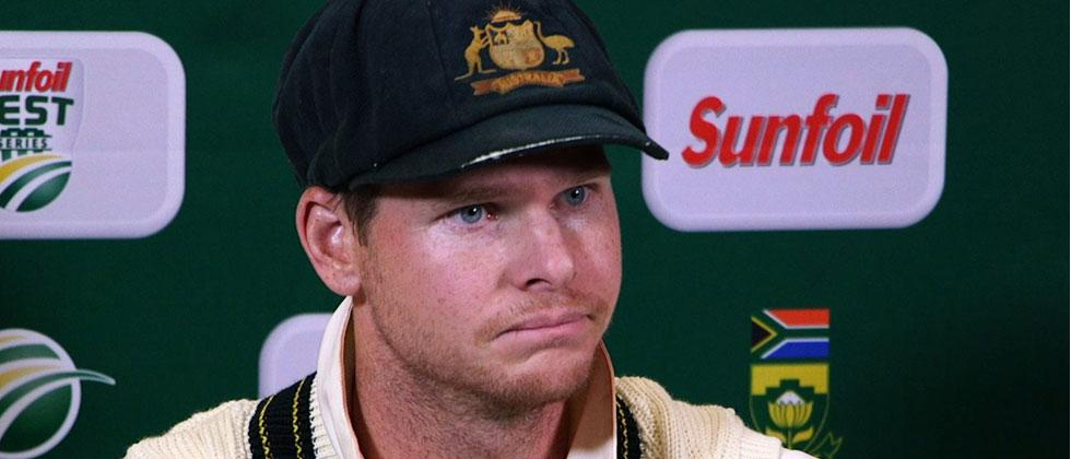 This file video grab taken on March 24, 2018 from footage released by AFP TV shows Australia's captain Steve Smith speaking during a press conference in Cape Town as he admitted to ball-tampering during the Test against South Africa. AFP Photo/AFP TV/STR