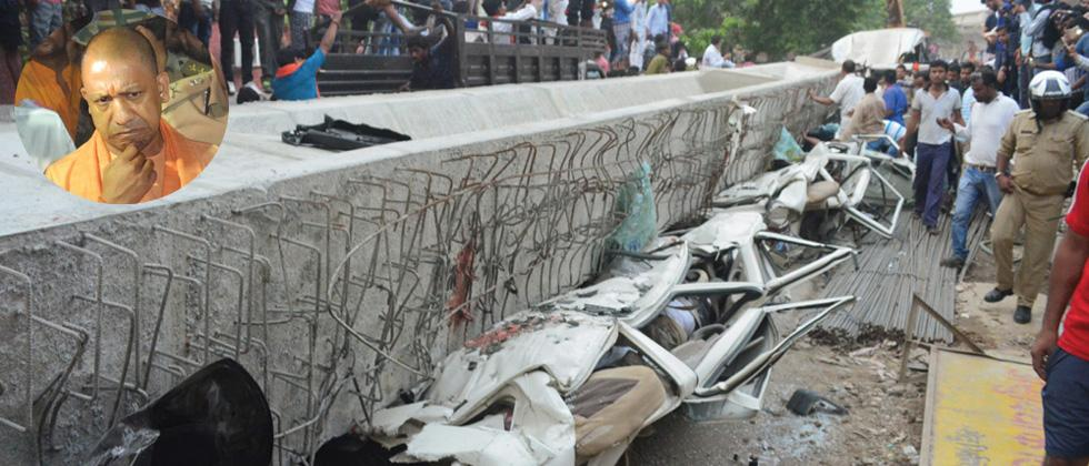 Flyover collapse: UP CM orders action against 7 officials