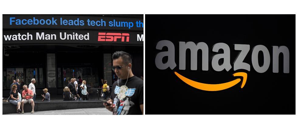 Facebook plunge puts Amazon investors on guard
