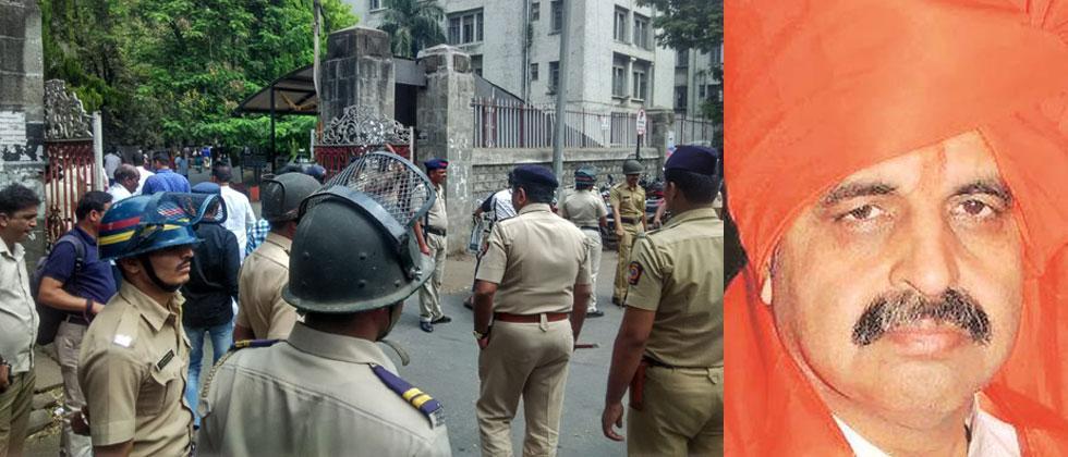 Heavy bandobast at Shivajinagar court