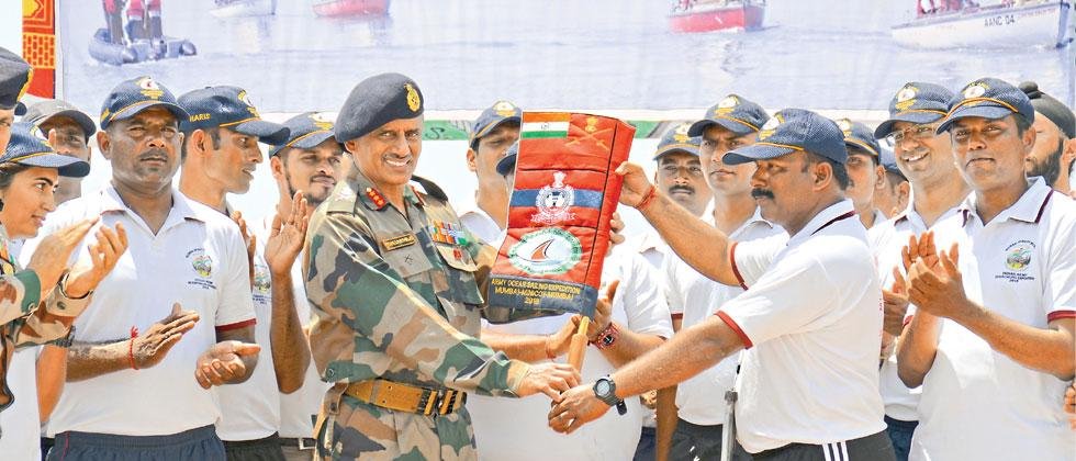 Indian Army's ocean sailing team completed Ocean Sailing Expedition in Mumbai