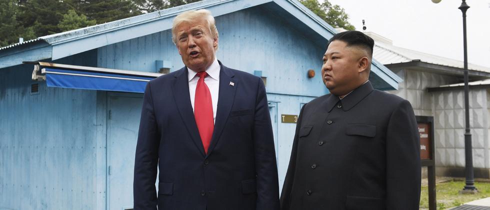 Trump becomes 1st sitting US leader to enter North Korea