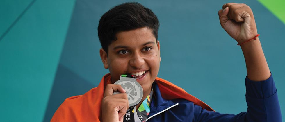 Another teenage shooter rises for India with silver in double trap