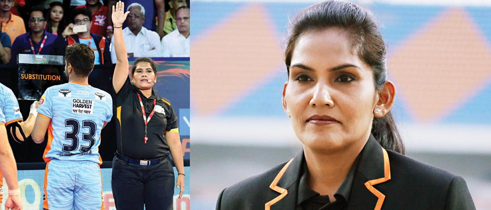 Sasmita and Jamuna drawing lines for future women referees