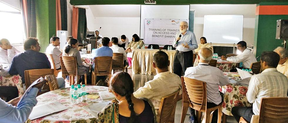 A workshop on Access and Benefit sharing norms held for different government officials at Bharati Vidyapeeth College under the GIZ Indo-German Biodiversity Programme on Wednesday