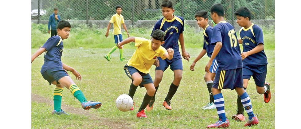 Ramabai Ambedkar blanks out Indian Edu Academy    A player from Mata Ramabai Ambedkar English Medium School, PMC 60 B (yellow) vies for the ball during their match against Indian Education Academy, Khadki in the Under-14 Subroto Cup Qualifying football to