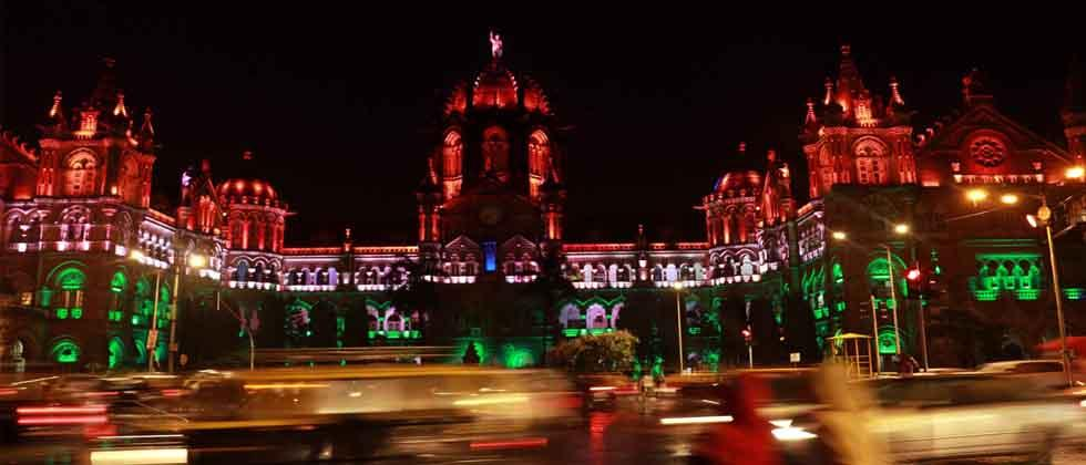 Chhatrapati Shivaji Terminus illuminated on occasion of 15th August on Monday.