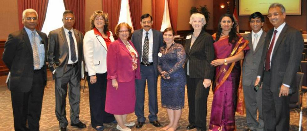 Avinash Chander (Center) Reny Roy (third last from right), Fay Crowe (Fourth from left) during the signing of MOU of EDK at Washington DC 2013