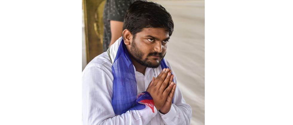 Patidar leader Hardik Patel prepares for his indefinite hunger strike for reservation, at his residence in Ahmedabad on Saturday.