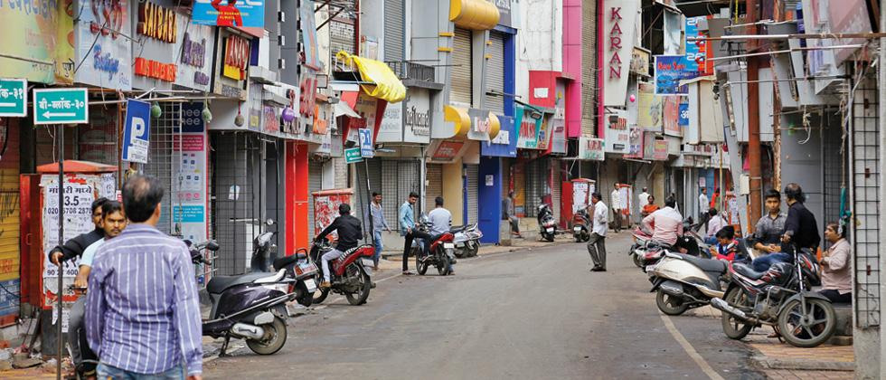 Pimpri camp wore a deserted look on Thursday as shopkeepers kept their shutters down fearing violence.