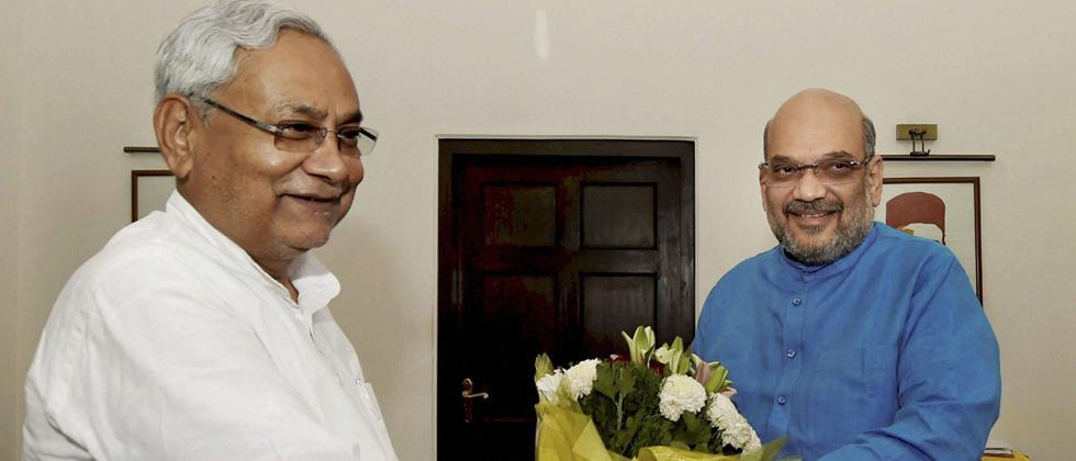 Amit Shah invites Nitish Kumar to join NDA