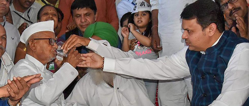 Anna Hazare ends fast after six days