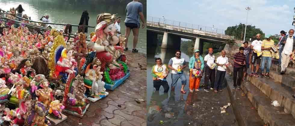 Over 3K broken Ganesh idols pulled out from rivers