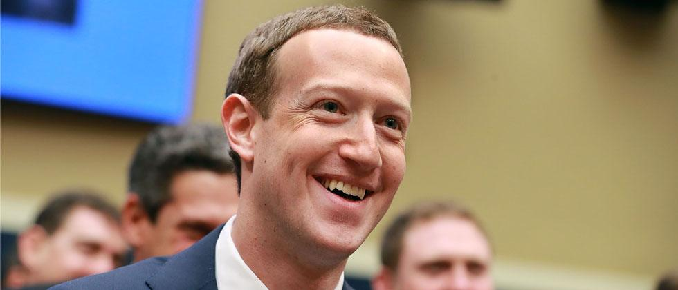 Facebook co-founder, Chairman and CEO Mark Zuckerberg smiles at the conclusion of his testimony before the House Energy and Commerce Committee. Chip Somodevilla/Getty Images/AFP