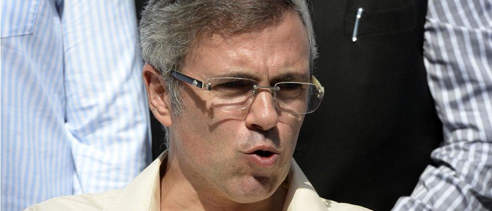 J & K main opposition National Conference party leader and former CM Omar Abdullah speaks during a press conference in Srinagar on June 19, 2018. Tauseef Mustafa/AFP