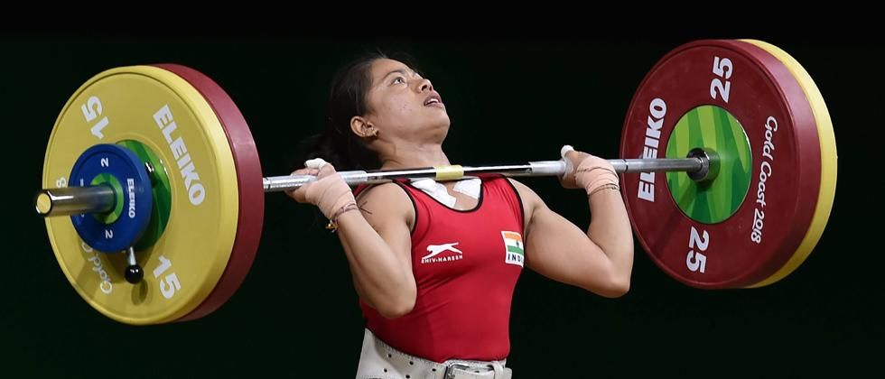 Indian weightlifter Sanjita Chanu competes in the women's 53kg weightlifting event during the Commonwealth Games 2018 in Gold Coast, on Friday. PTI Photo