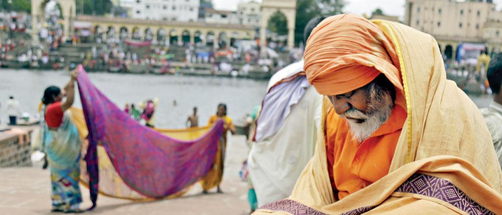 Warkaris visit Alandi for the annual palkhi procession of Sant Dnyaneshwar Maharaj on banks of Indrayani river. Parag Jadhav/Sakal Times