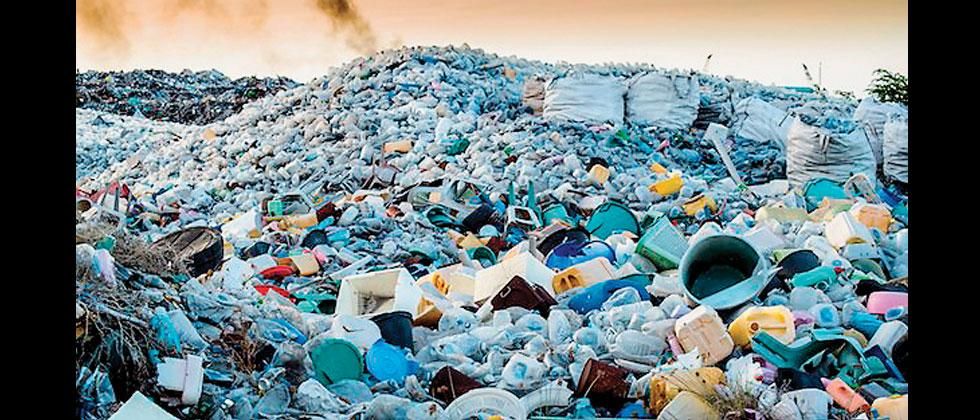 Huge heaps of plastic can be seen at the Uruli-Phursungi garbage dumping yard