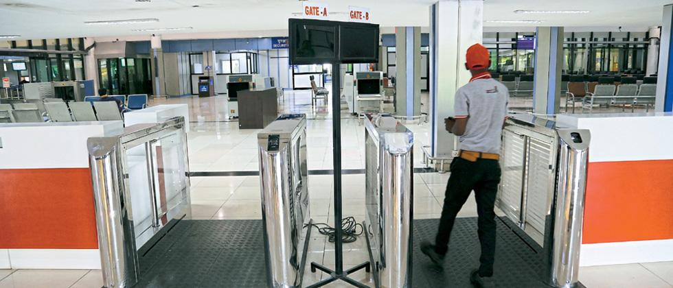 Boarding pass scanner at departure area soon