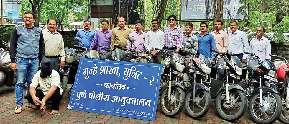 Crime Branch recovers 14 stolen bikes worth Rs 3.3L