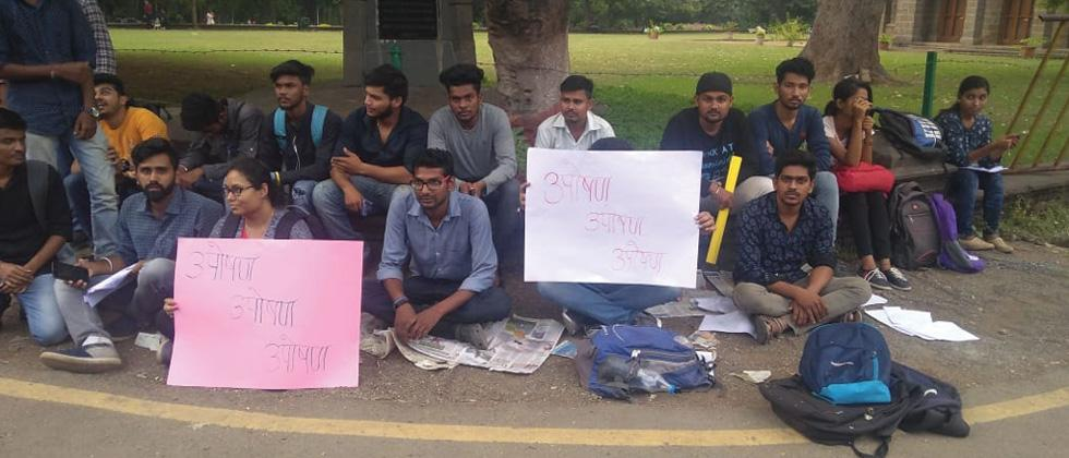 Engineering students protest at SPPU