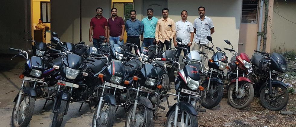 Hadapsar police recover 18 stolen bikes, 1 SUV