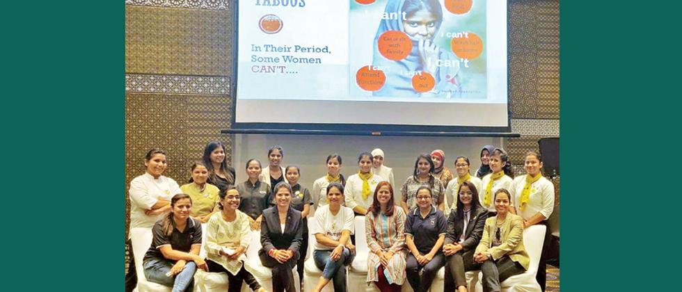 Menstrual hygiene workshop held by Novotel and Humjoli Foundation