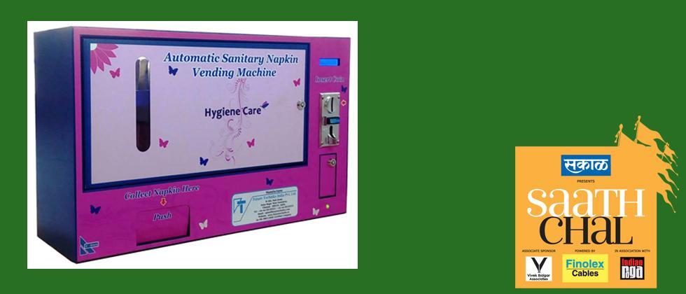 Sanitary pad vending machine for women