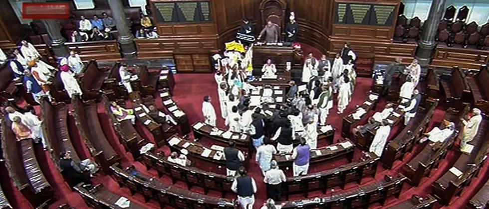 Cong, others, protest as Govt moves Constitution Amendment Bill in Rajya Sabha