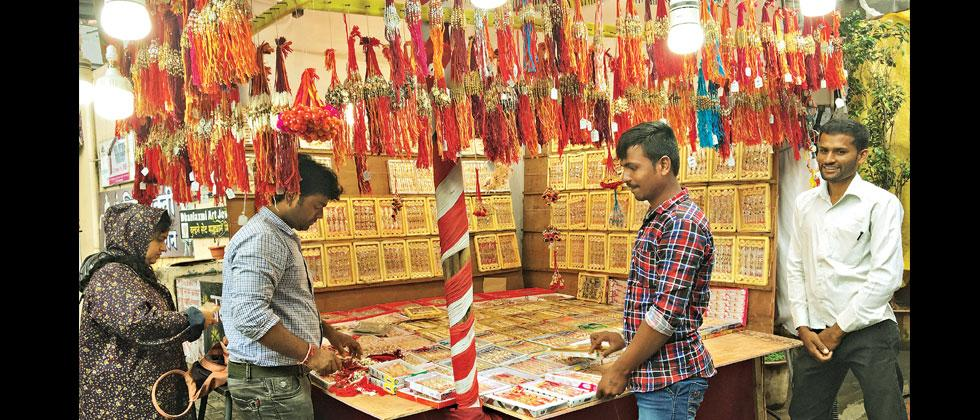 Despite GST exemption, rakhi wholesalers at Bhori Ali still face downfall in their business
