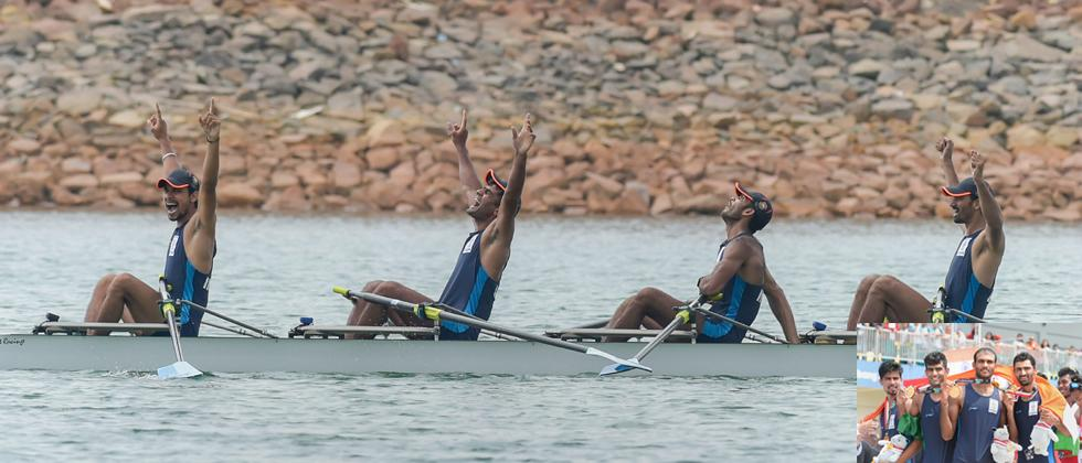 Indian rowers paint JSC Lake with gold and bronze