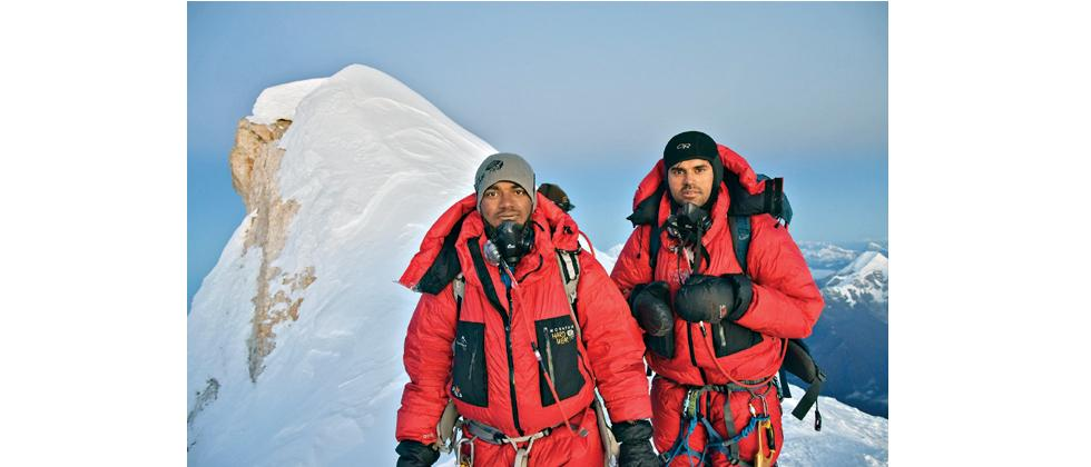 Giripremi's Akshay Patke (L) and Ashish Mane successfully scaled Mount Manaslu on September 26.