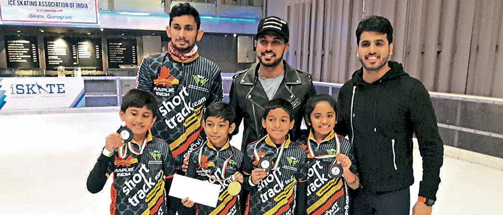 Maharashtra skaters impress in Ice Skating