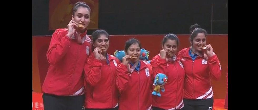 India's women's TT team clinches gold at CWG