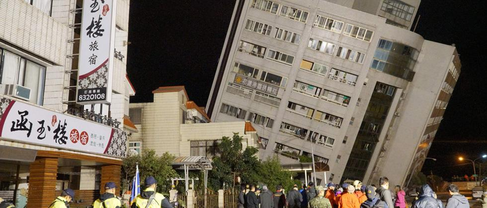 Two dead, over 100 injured in Taiwan quake