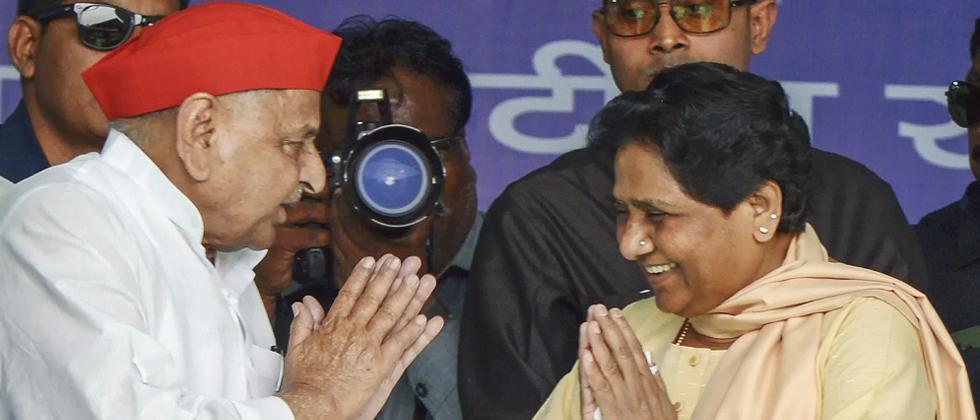 LokSabha 2019: Mulayam, Mayawati share stage after decades, praise each other