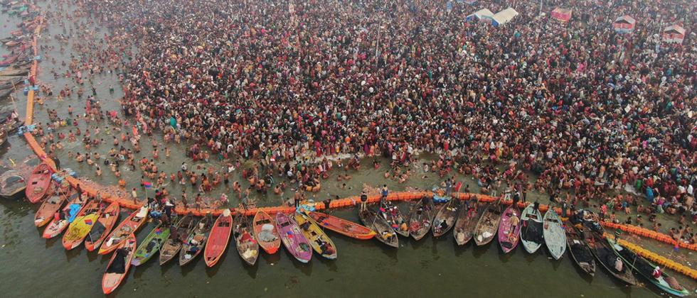 Two crore expected to take holy dip on Kumbh's third 'shahi snan' on Sunday