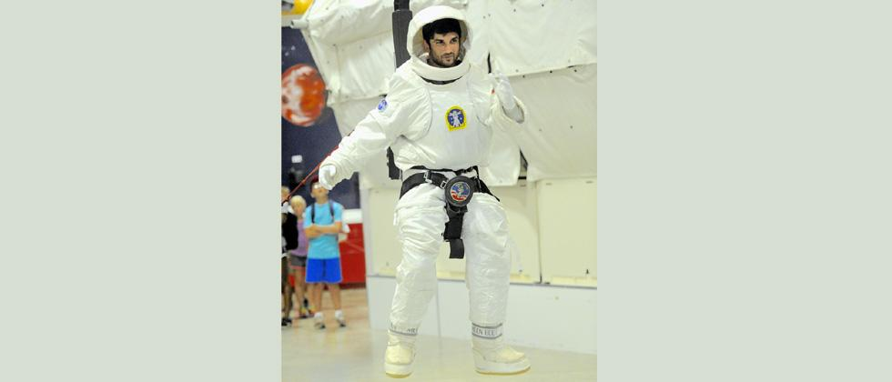 Sushant Singh trains at NASA
