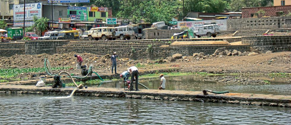 Activists successful in halting concreting of Krishna riverbank