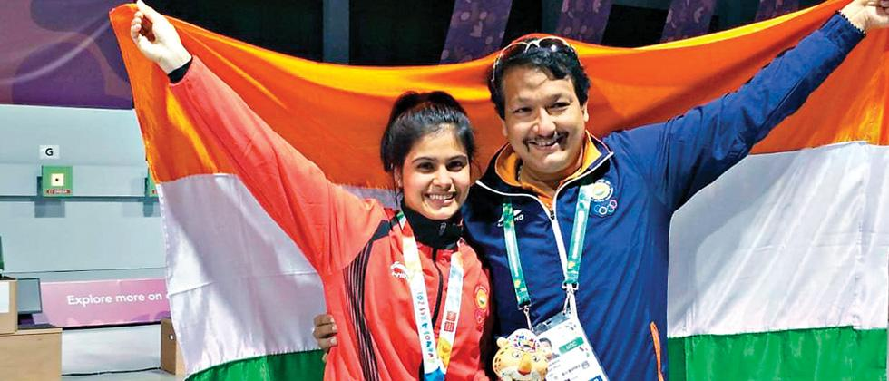 Manu becomes India's first YOG gold medalist in shooting